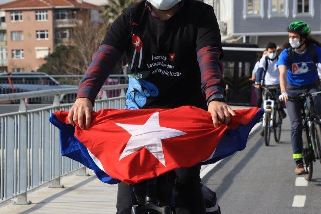 Bicicletada contra el bloqueo, Estambul, Turquía